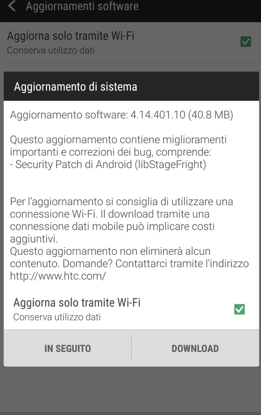 StageFright per HTC One Max