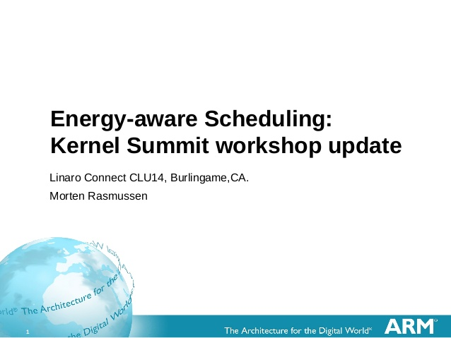 ARM Energy Aware Scheduling