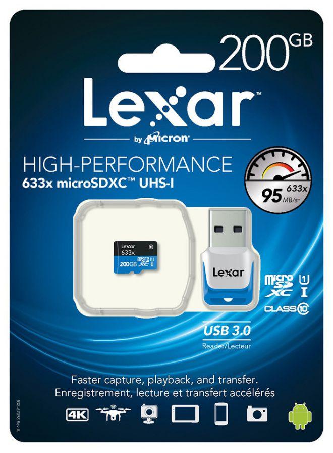 Micro SDXC Lexar da 200 GB