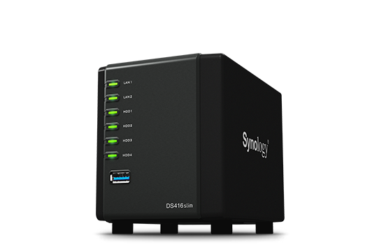 Synology NAS DS416slim Quad-Bay