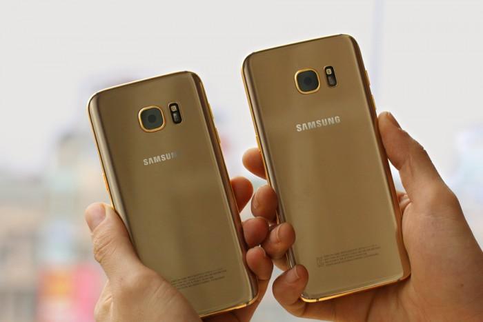 Nuovo Samsung Galaxy S7 ed S7 Edge in oro 24Kt