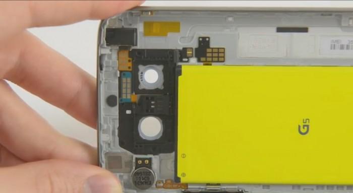 LG G5 è particolarmente semplice da riparare