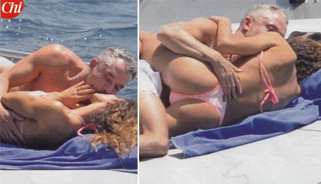 Raffaella Fico e Alessandro Moggi, weekend di passione in barca
