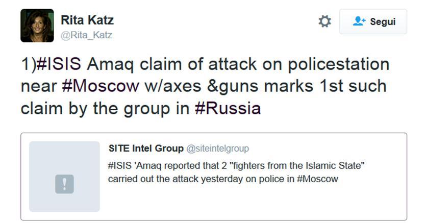 Russia, attacco terroristico a Sholkovo: l'ISIS l'ha rivendicato con un video