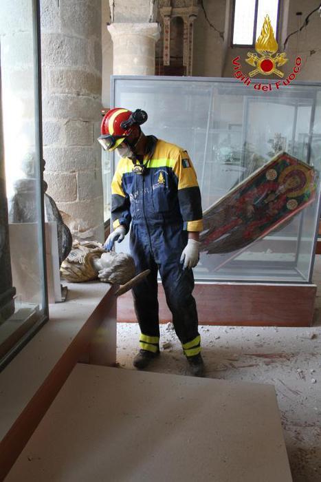 Amatrice: recupero opere d'arte museo civico