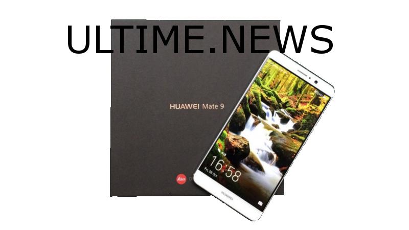 Confezione di vendita e Huawei Mate 9 in bella vista