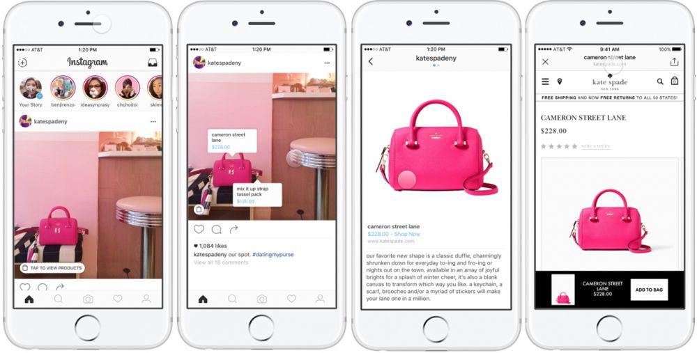 Instagram e lo shopping online vanno a braccetto