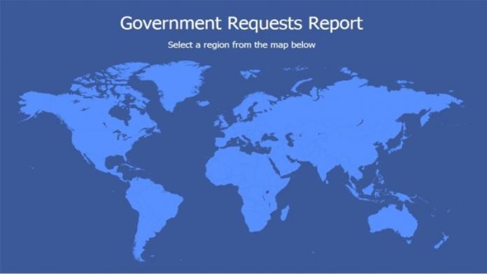 Facebook i vari governi chiedono informazioni sugli utenti