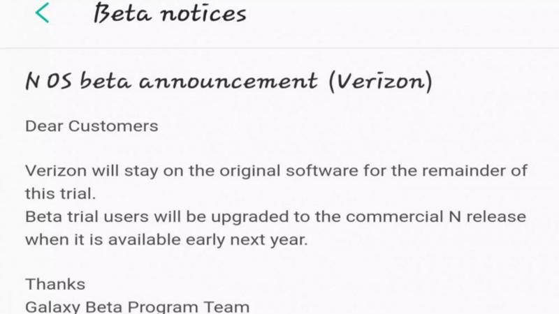 Galaxy S7 Edge, per Verizon l'update ad Android N arriverà il prossimo anno