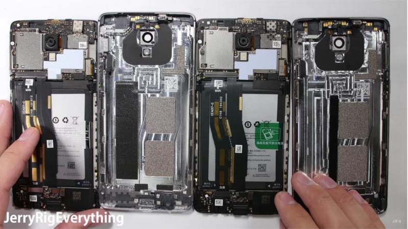 OnePlus 3T viene smontato, ecco la scheda logica e la batteria