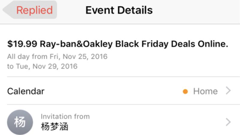 Spam nell'app Calendario, Apple lavora ad un fix