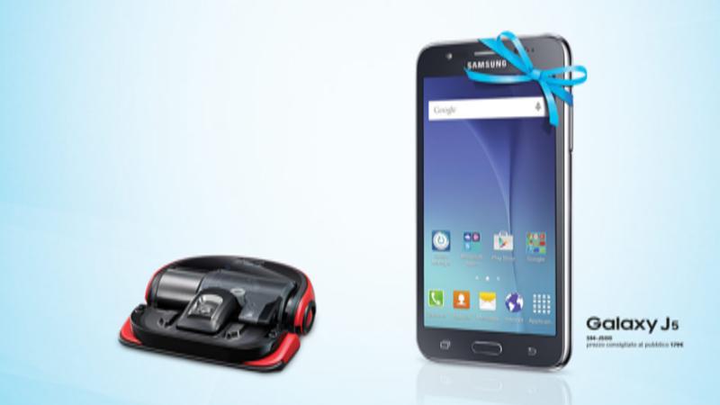 Samsung Galaxy J5 come omaggio con l'acquisto di un aspirapolvere POWERbot