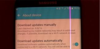 Galaxy S7 Edge con linea viola sullo schermo, Samsung li passa in garanzia