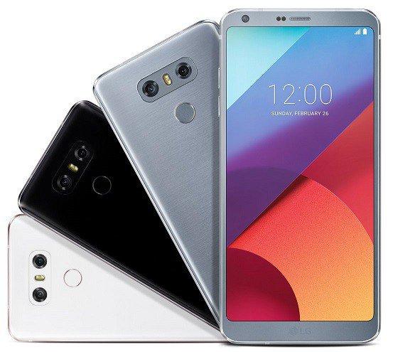 Ecco anche LG G6 in tutte le varianti colore