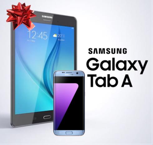 Per te che acquisti un Samsung Galaxy S7 un Galaxy Tab A in regalo