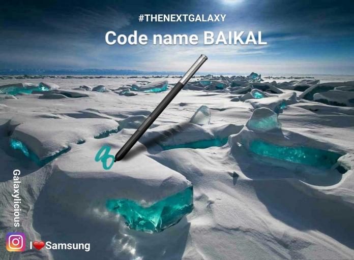 Samsung Galaxy Note 8 Baikal, questo il nome in codice del prodotto