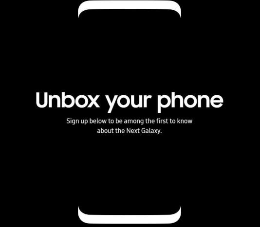 Samsung Galaxy S8 viene confermato dal sito web ufficiale