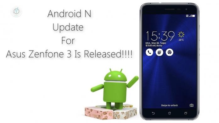 ASUS ZenFone 3 si aggiorna ad Android Nougat