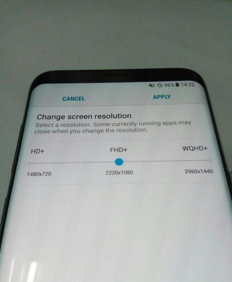 Anche Samsung Galaxy S8 con 3 diverse risoluzioni