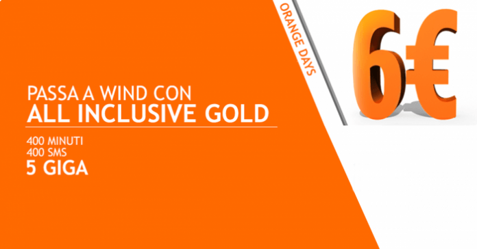 Wind rende di nuovo disponibile la All Inclusive Gold a 6€ ogni 28 giorni
